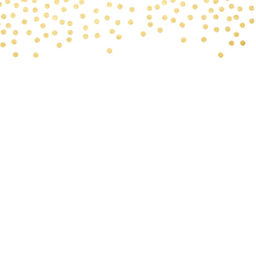 Kerstkaart goud confetti 2