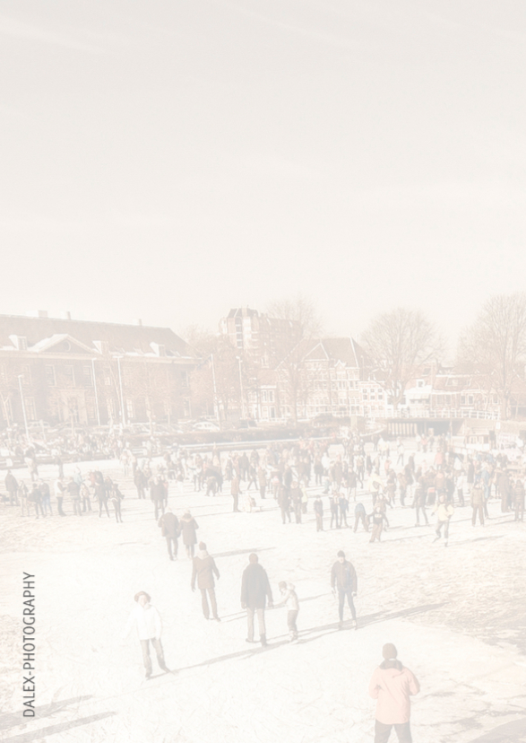Kerstkaart-Holland Tafereel 2
