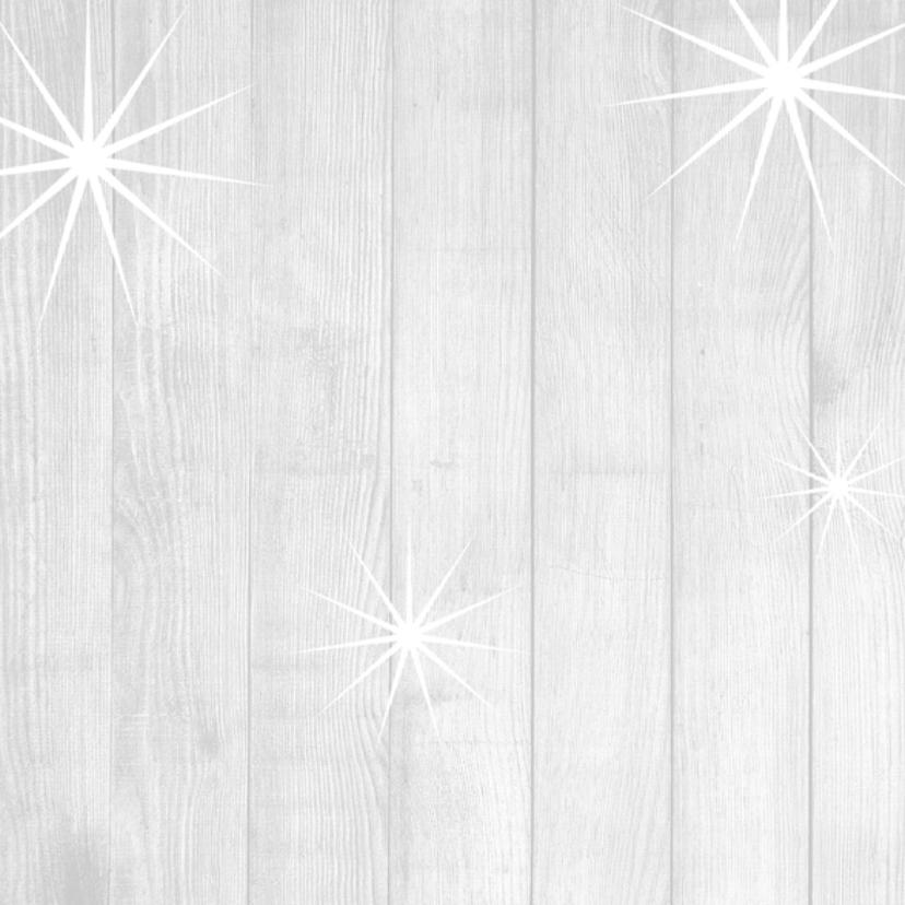 Kerstkaart hout met sterren 2