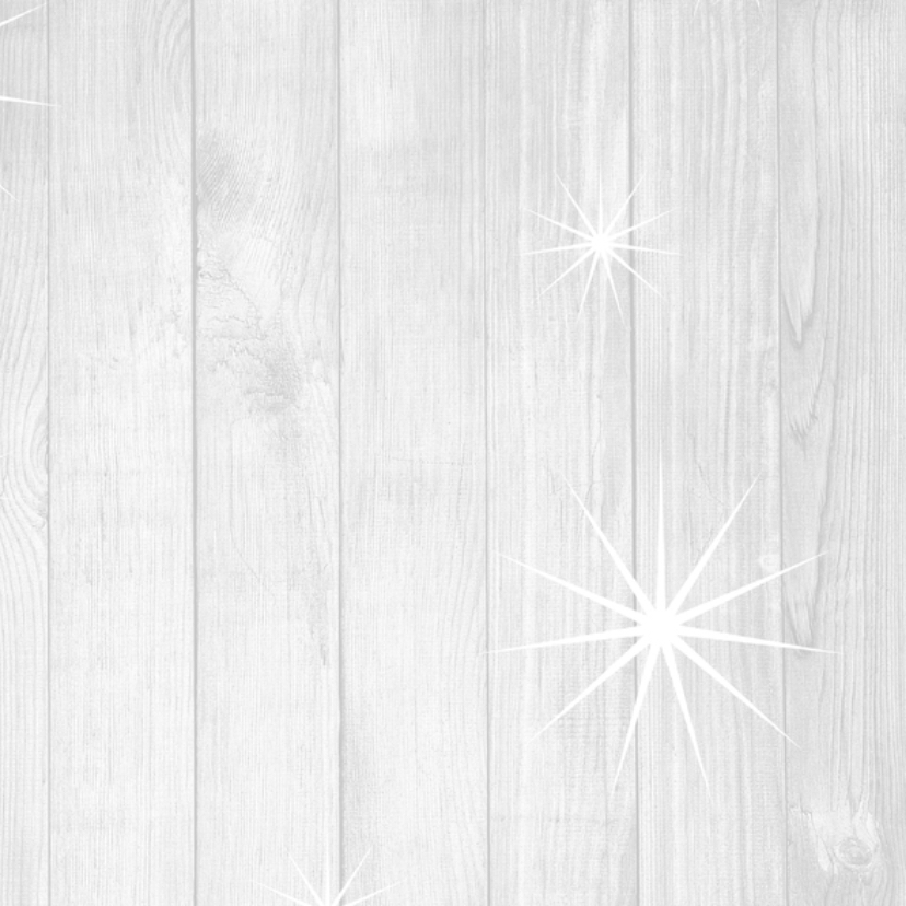 Kerstkaart hout met sterren 3