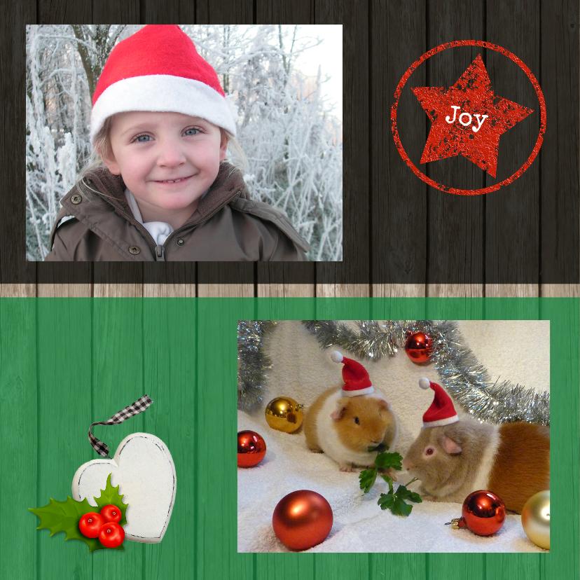 Kerstkaart Houten vlakken 2 2