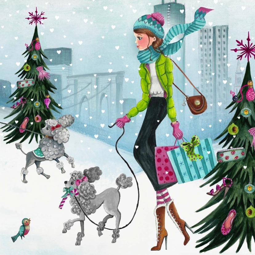 Kerstkaart Illustratie Kerstboom 1