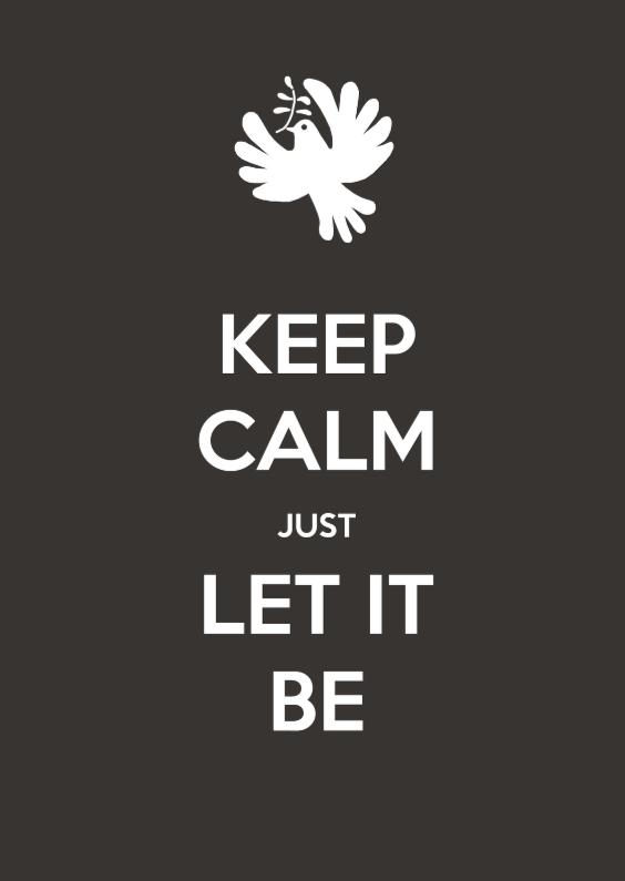 Kerstkaart keep calm let it be 1