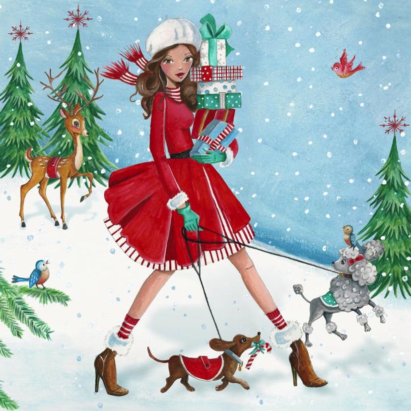 Kerstkaart Kerst Illustratie 1