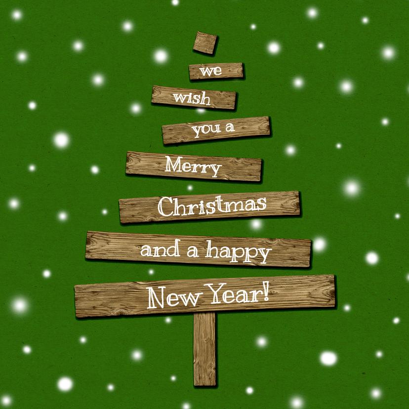 Kerstkaart kerstboom hout2-HR 1