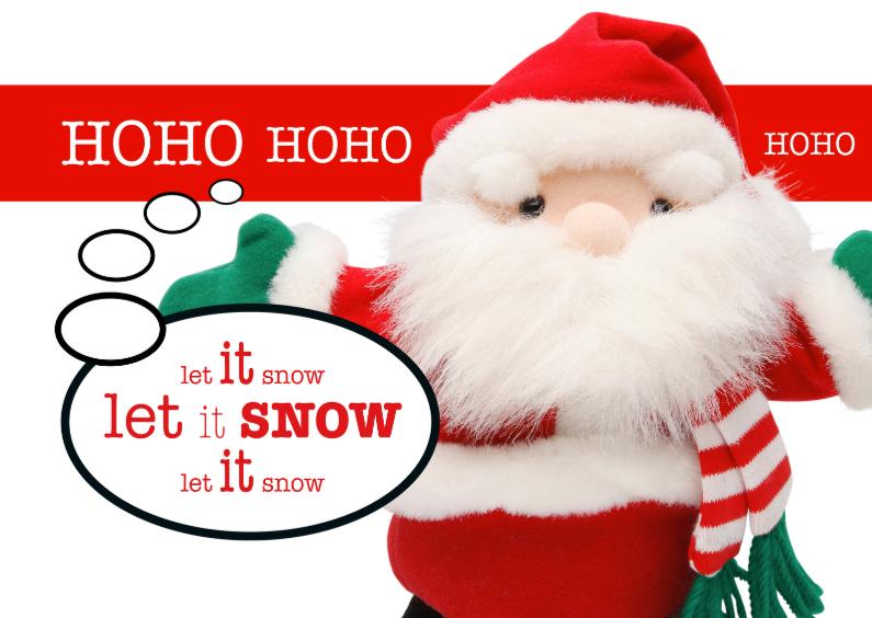 Kerstkaart - Kerstman pop - hoho 1