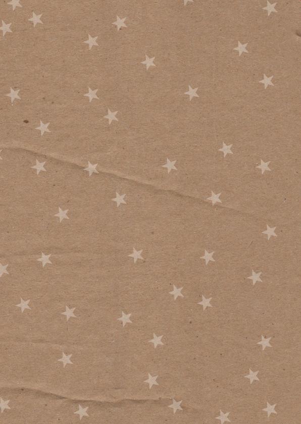 Kerstkaart kraftprint slingers en foto's 2