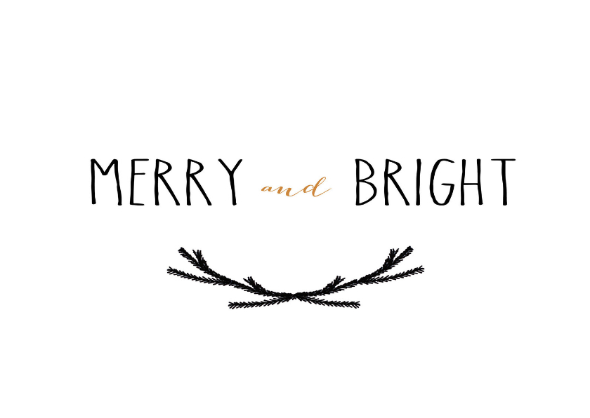 Kerstkaart Merry and Bright 1