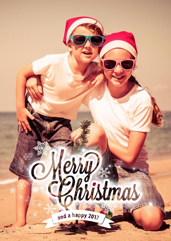 Kerstkaart Merry Christmas 2017 1