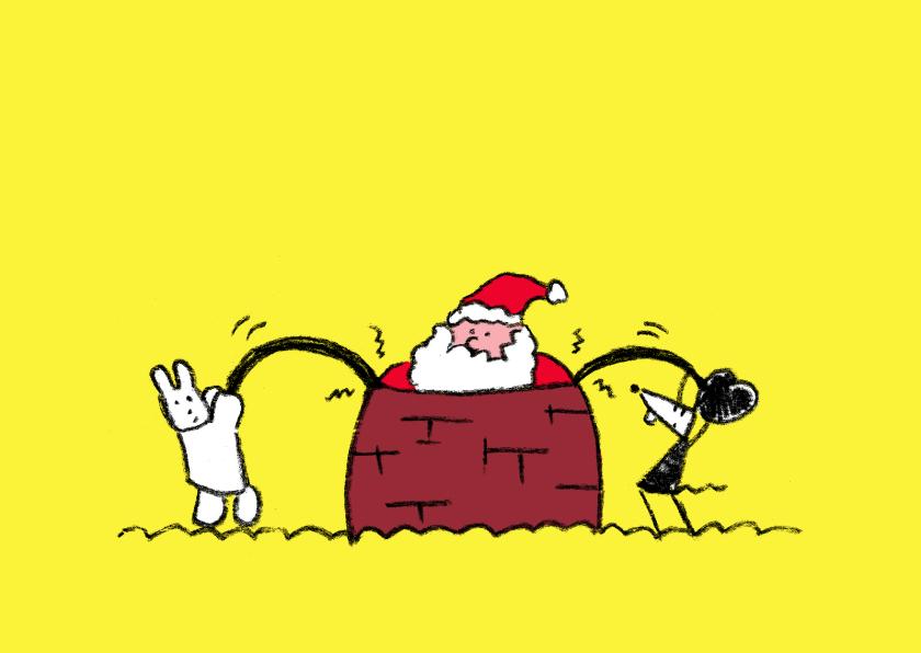 Kerstkaart met de kerstman 1