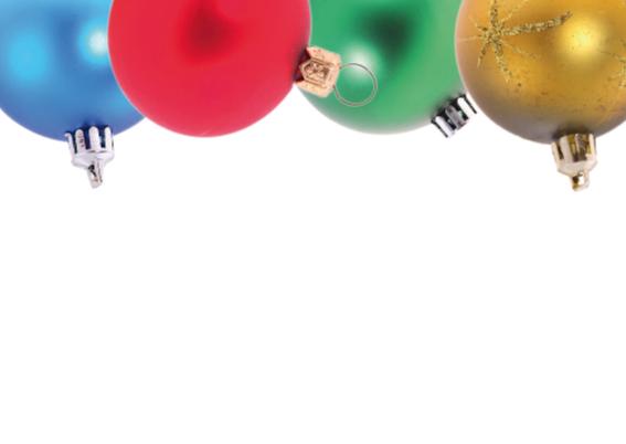 Kerstkaart met kerstballen kader 2 2