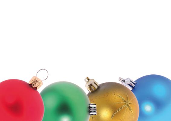 Kerstkaart met kerstballen kader 2 3