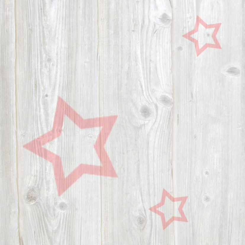 Kerstkaart met rode sterren 2
