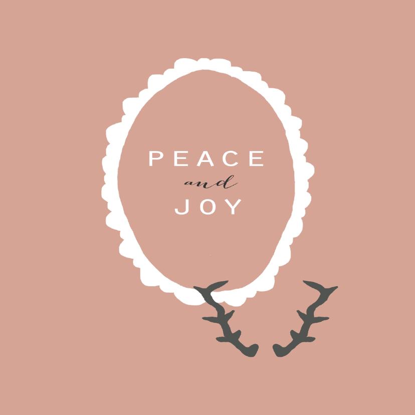 Kerstkaart Peace and Joy 1