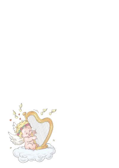 Kerstkaart Raynicholson Harp- RN 2