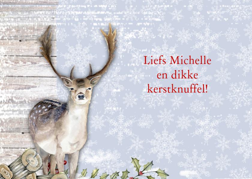 Kerstkaart rendier met  foto 3