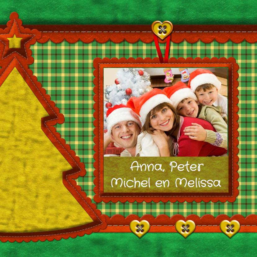 Kerstkaart - Stof met foto2 1