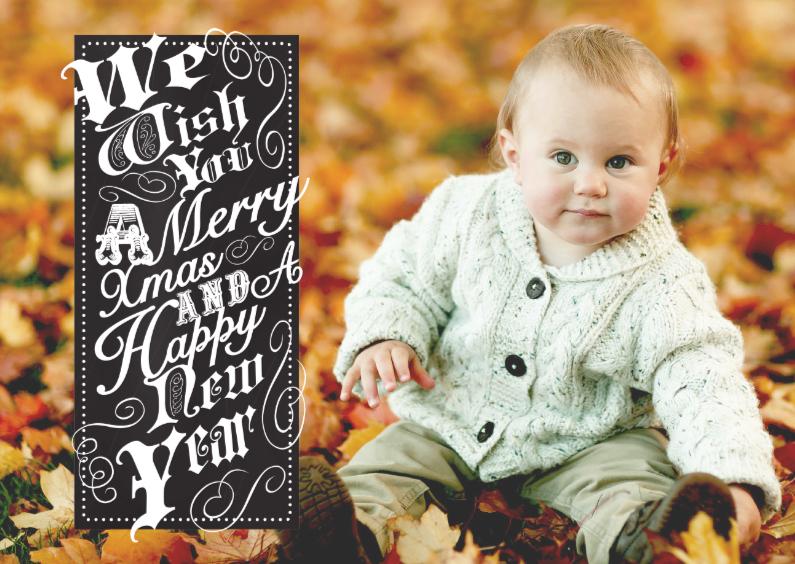 Kerstkaart vintage tekst & foto 1
