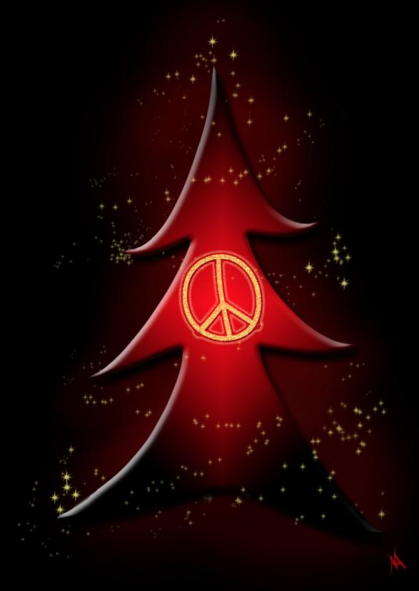 Kerstkaart Vredesboom NA 1