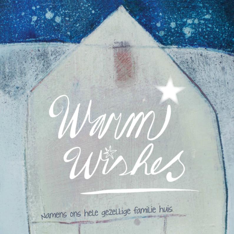 Kerstkaart wens winter huis  1