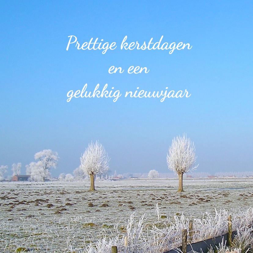 kerstkaart winterlandschap bomen 1