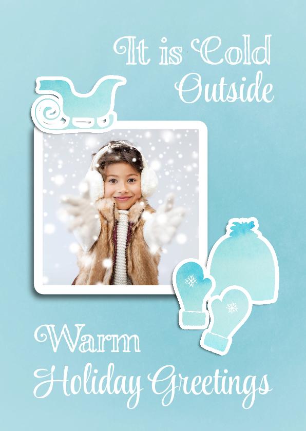 Kerstkaart winterse warmte - SG 1