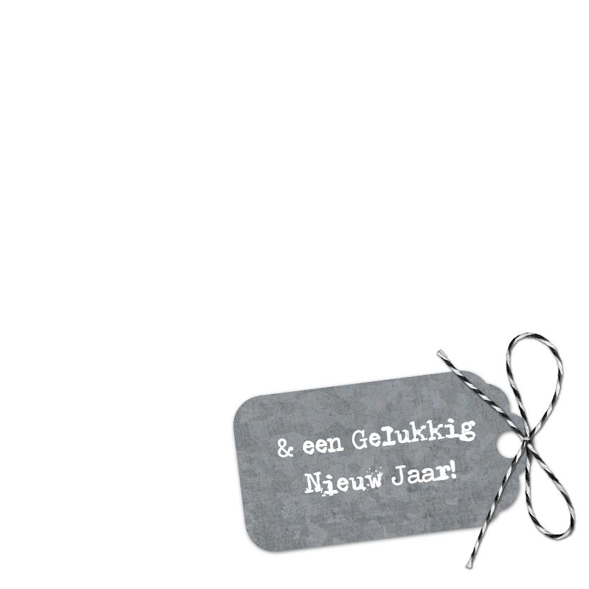 Kerstkaart Wit Hout Kerstboom Label 3