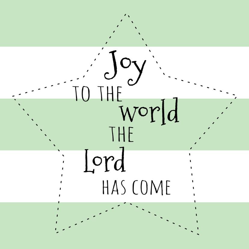 Kerstkaartje Joy to the world-WW 1