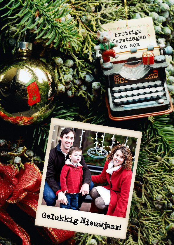 Kerstmuiskaart staand - BK 1