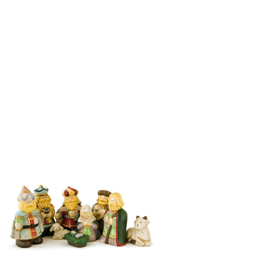 Kerststalfiguurtjes met wens 2