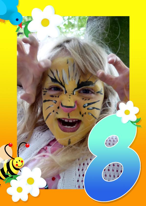 Kinderfeest fotokaders 8 jaar 1