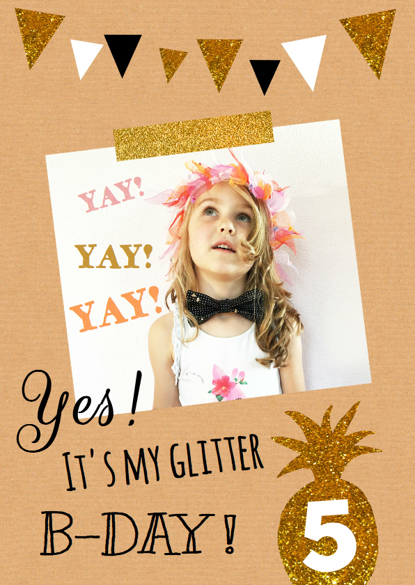 kinderfeest glitter ananas 1