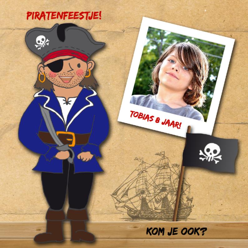 Kinderfeest piraat eigen foto 1