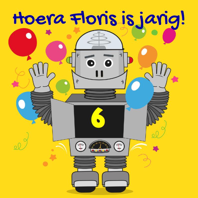 Kinderfeest Robot uitnodiging 1