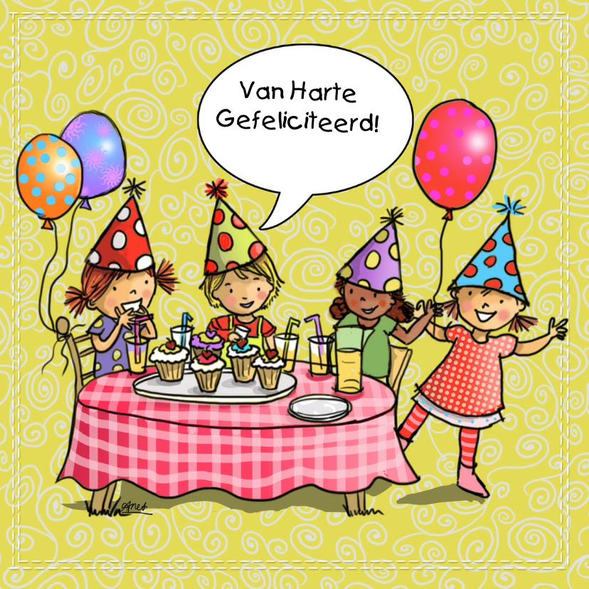 Kinderfeest verjaardagskaart 1