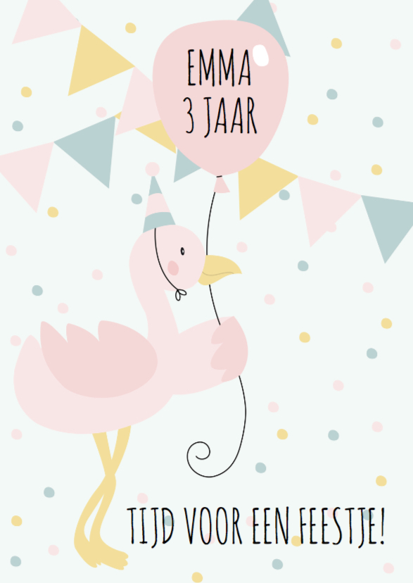 Kinderfeestje flamingo meisje 1
