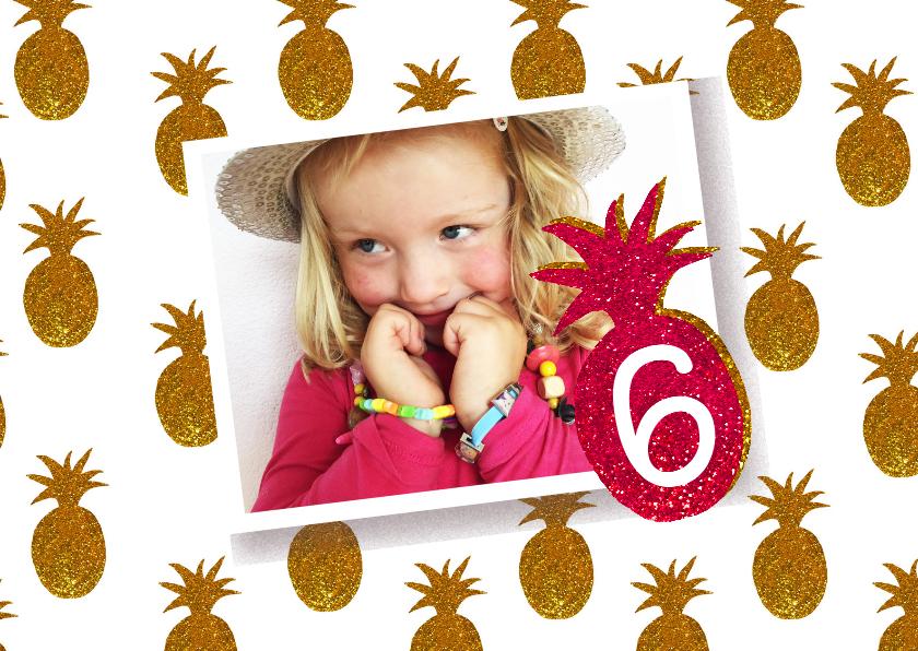kinderfeestje meisje ananas goud 1
