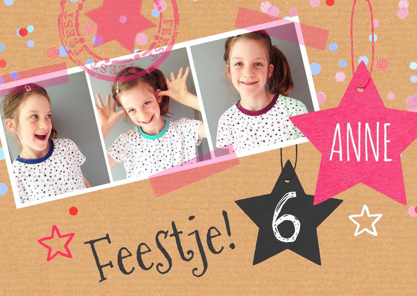 Kinderfeestje meisje sterren 1