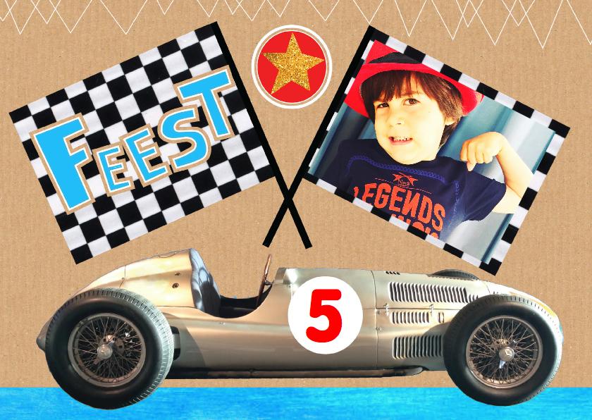 kinderfeestje race auto stoer 1
