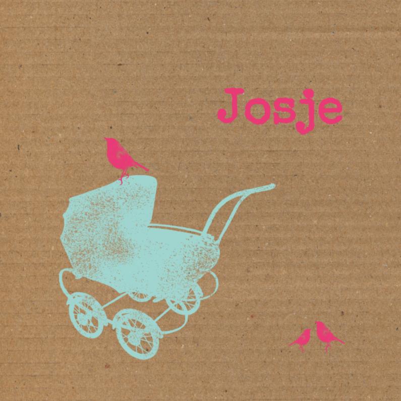 Kinderwagen, karton achtergrond 1