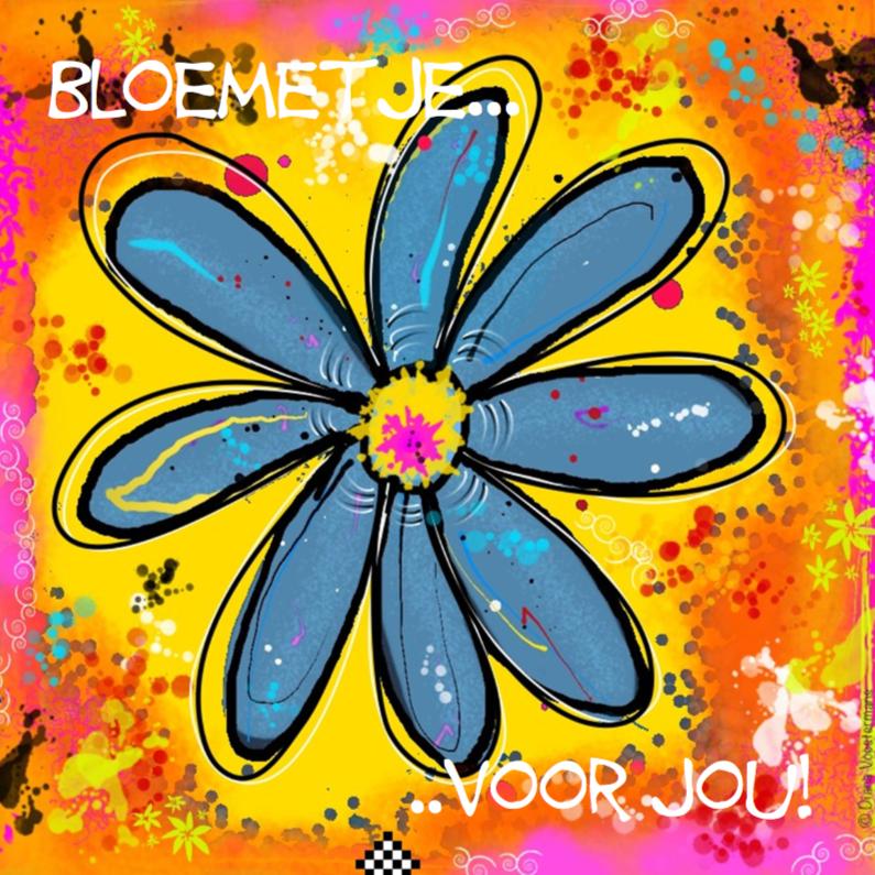 Kleurig bloemetje voor jou 1