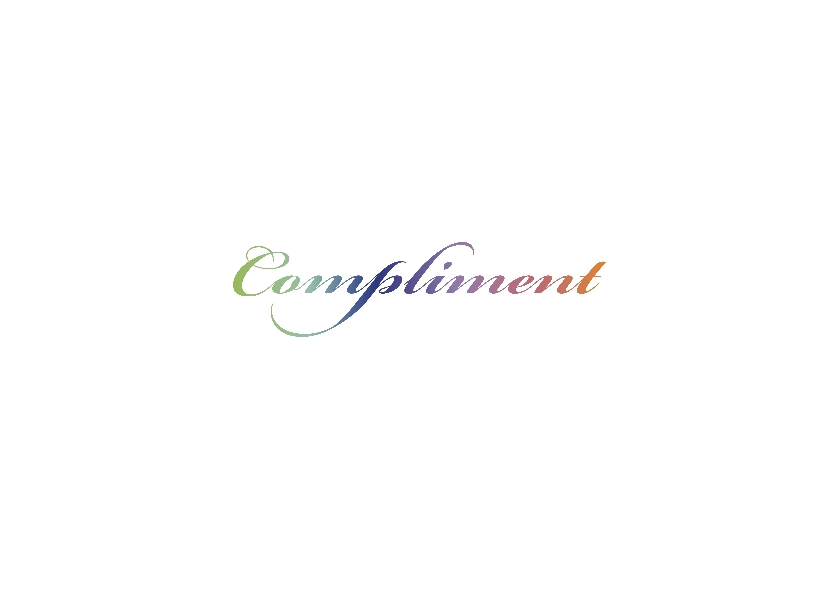 Kleurig compliment tekstkaart 2