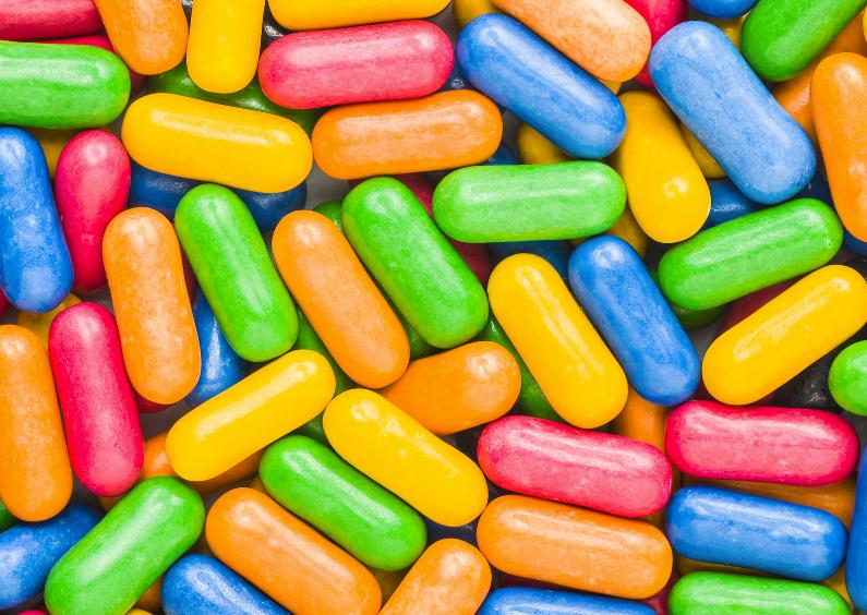 Kleurige snoep achtergrond 1