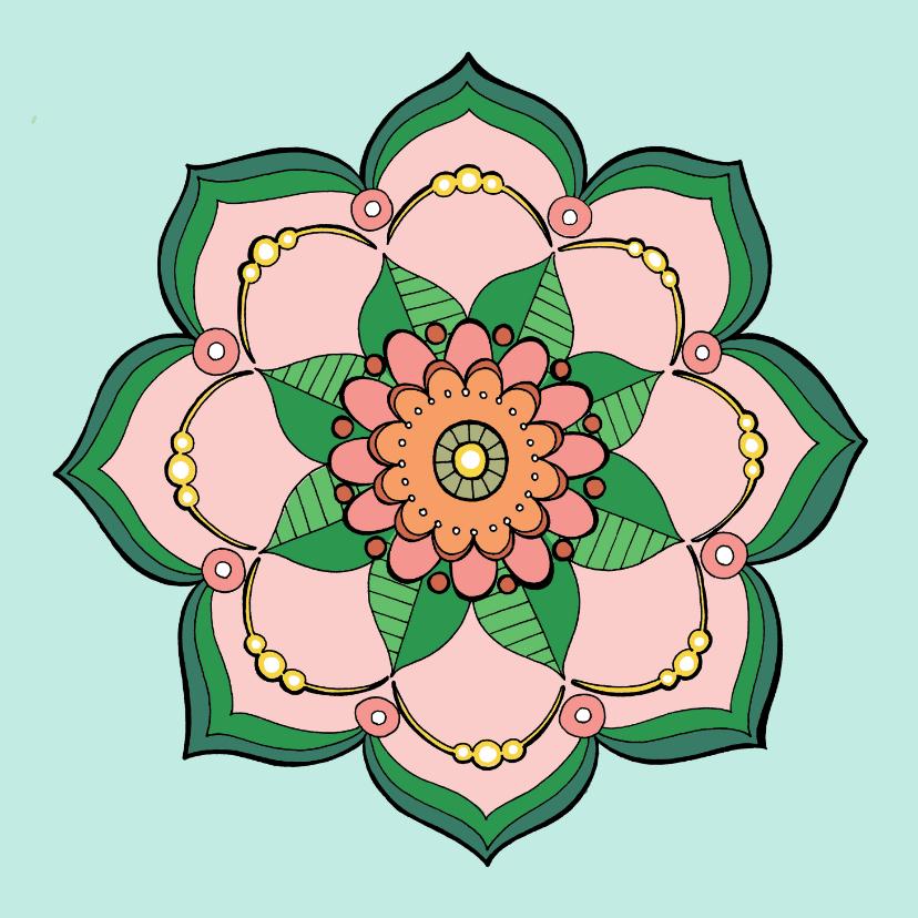 kleurplaat volwassenen mandala kleurplaat kaarten