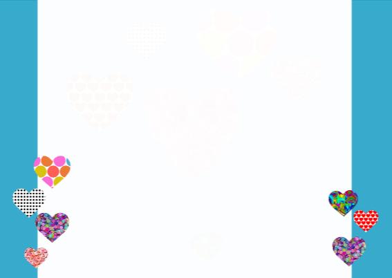Kleurrijk Hartjes Uitnodiging 3