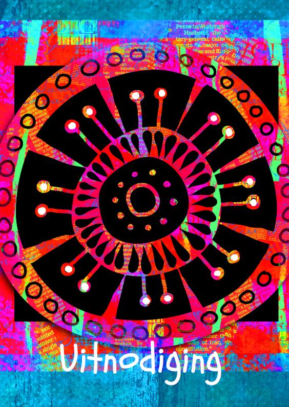 Kleurrijke uitnodiging doodle 1