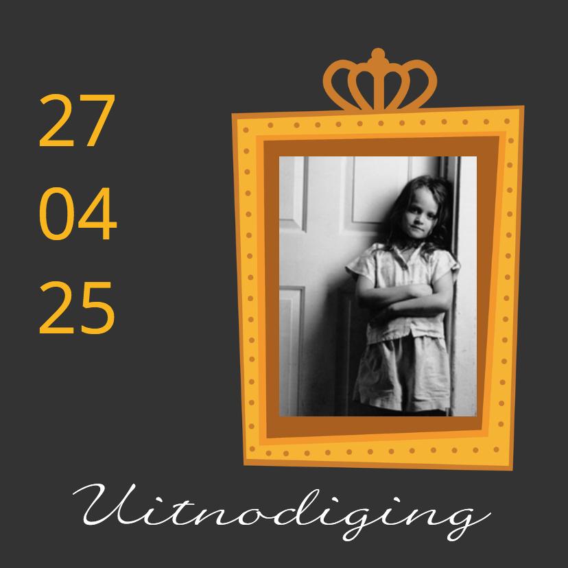 Koningsfeest uitnodiging - DH 1