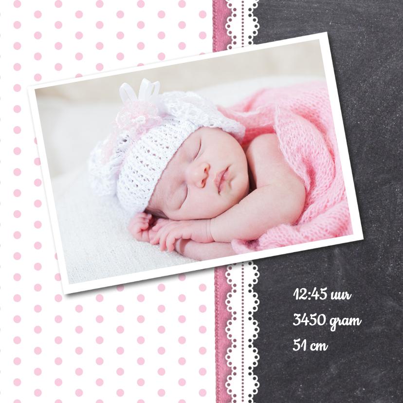 Krijtbord meisje foto geboorte 2