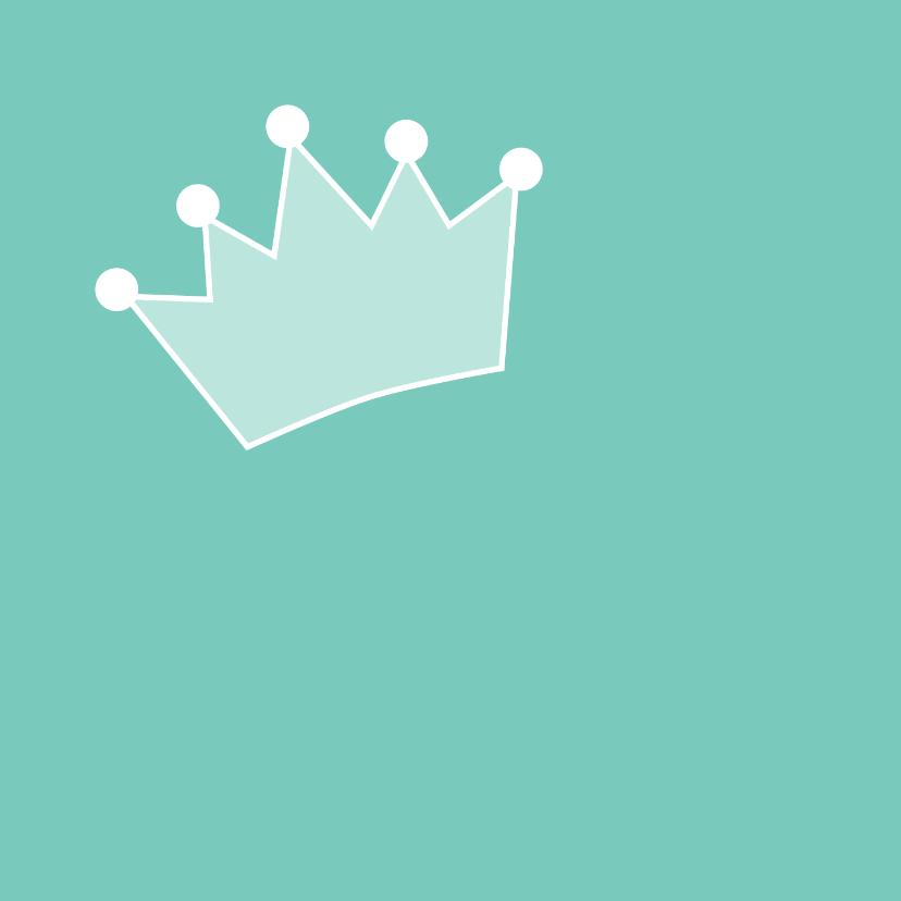 kroon jarig uitnodiging of felicitatie 2