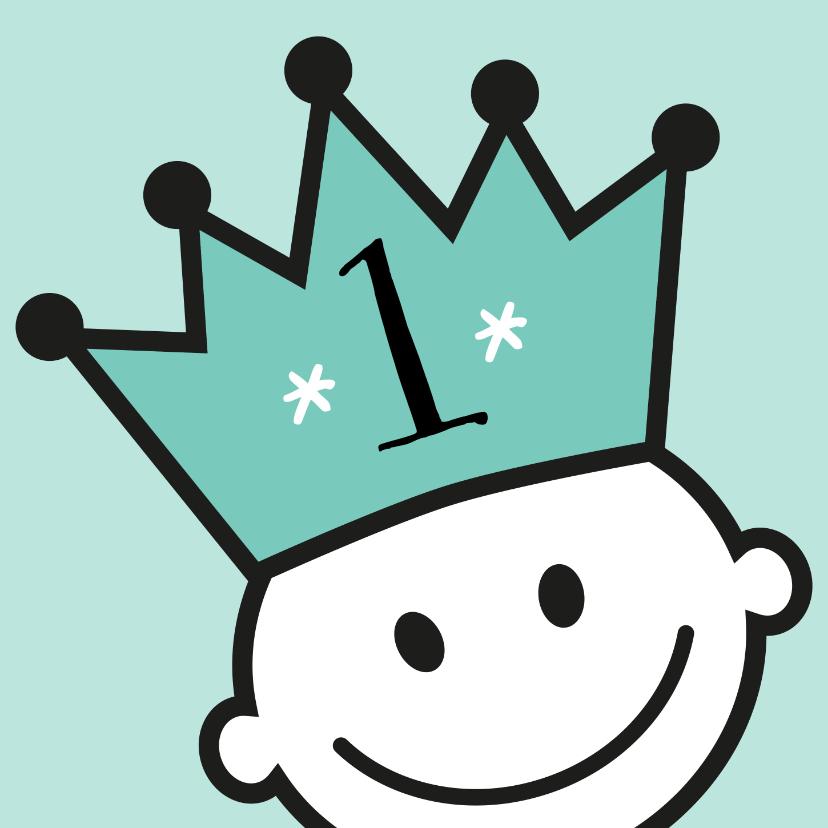 kroon jarig uitnodiging of felicitatie 1